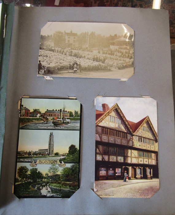 Reliable Series Album of postcards, mainly early Boston & Lincoln - over 200 cards - Image 7 of 14