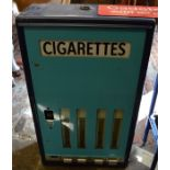 Never used Senior Service cigarette vending machine by Brecknell, Dolman & Rogers Ltd with stand