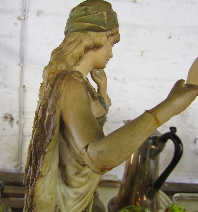 Selection of ceramics inc Royal Dux 1052 water carrier H 41 cm and 136 shepherdess H 37 cm ( - Image 13 of 15