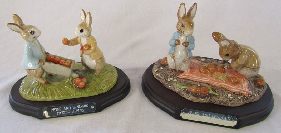 Two large limited edition Beswick Beatrix Potter figurines - Peter and Benjamin picking apples P - Image 2 of 2