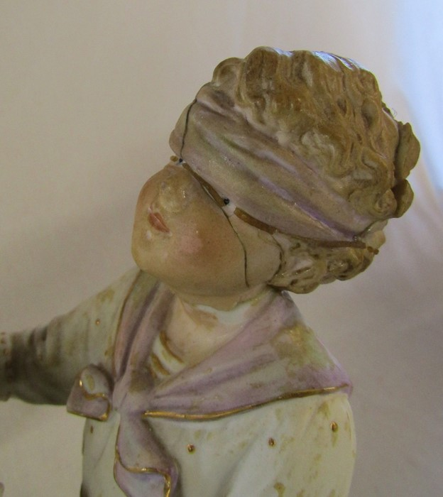 Selection of ceramics inc Royal Dux 1052 water carrier H 41 cm and 136 shepherdess H 37 cm ( - Image 9 of 15