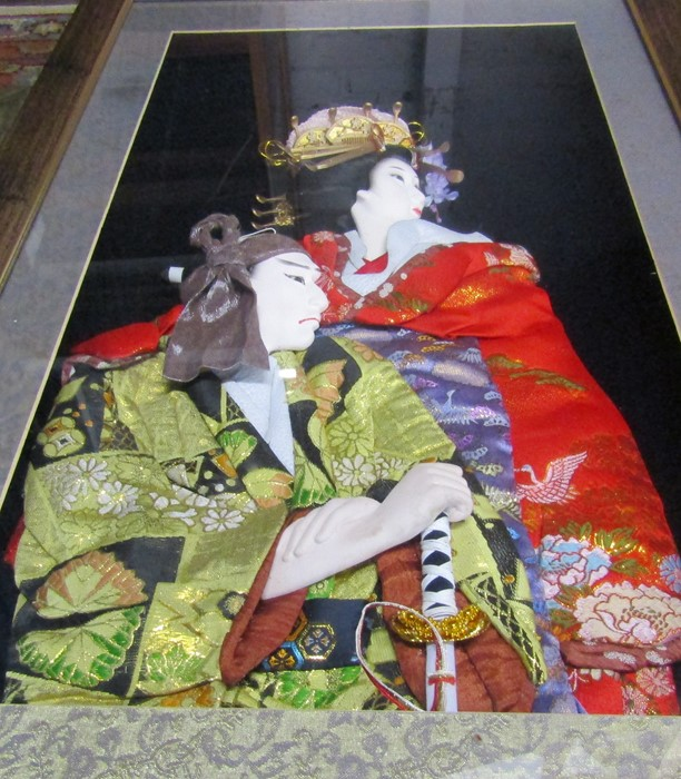 2 framed Japanese 3D wall art pictures 46 cm x 70.5 cm and 48 cm x 54.5 cm - Image 4 of 6