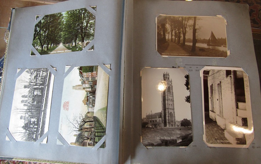 Reliable Series Album of postcards, mainly early Boston & Lincoln - over 200 cards - Image 8 of 14