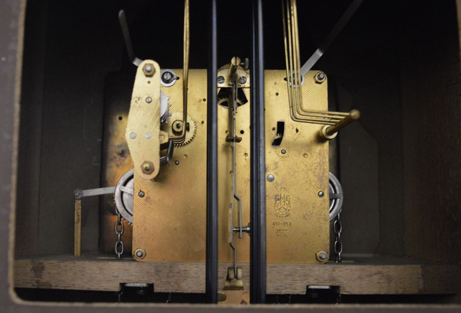 20th century German weight driven longcase clock with Westminster chime Ht 196cm W 36cm - Image 3 of 3