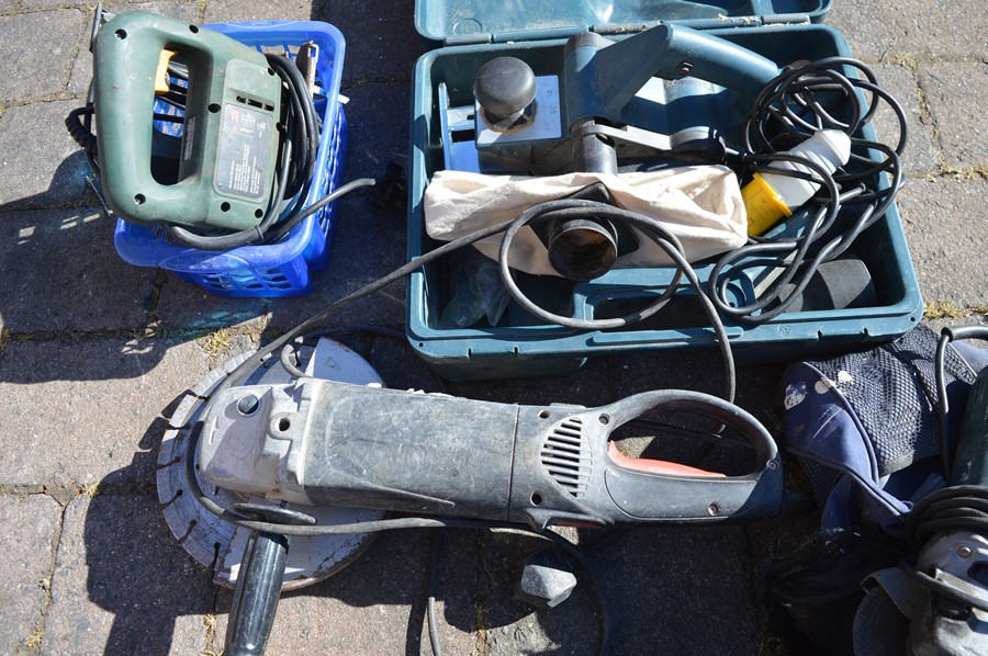 Rapesco nail gun, Bosch jigsaw, Bosch planer, grinder, Bosch grinder and accessories - Image 2 of 2