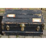 Vintage cabin trunk 77cm by 47cm by 34cm