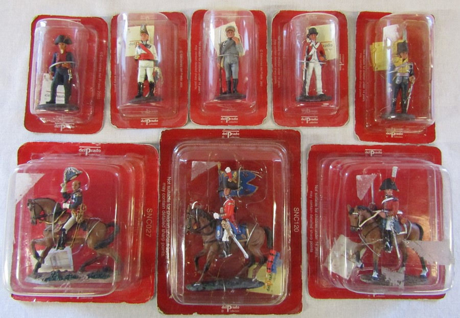 Selection of boxed Del Prado military figures