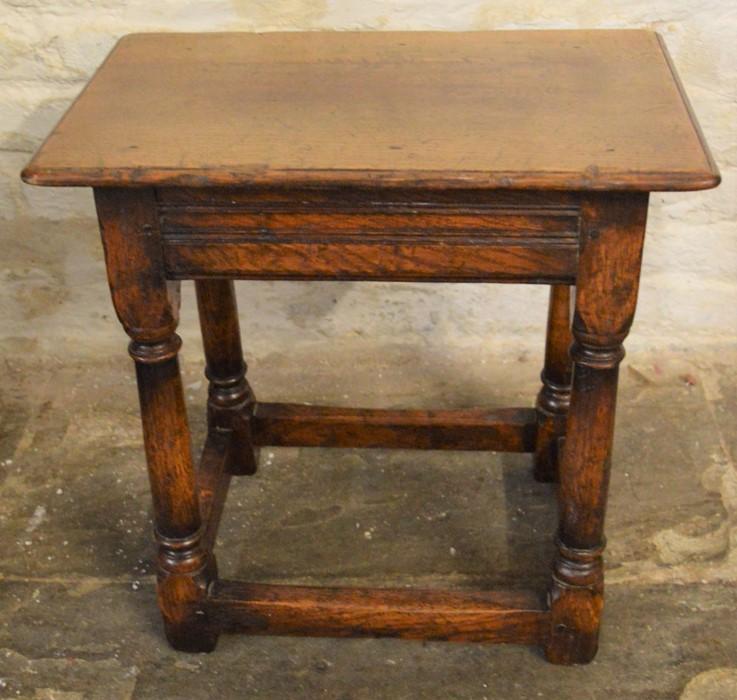 Titchmarsh & Goodwin coffin stool (2020 Retail Price List £820) Ht 46cm W 46cm D 28cm