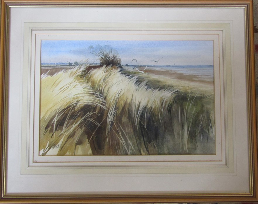 Framed watercolour of a rural scene by Louth artist David Morris 56 cm x 45 cm