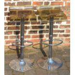Pair of adjustable bar/kitchen stools