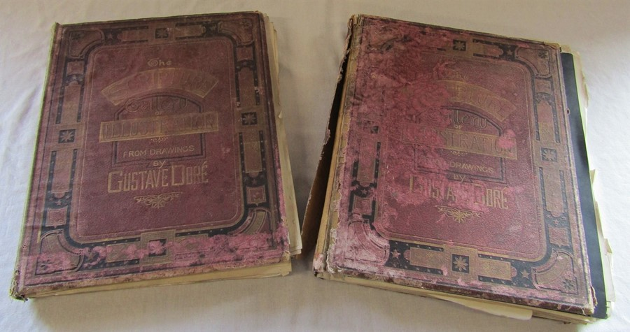 2 volumes of The scripture Gallery of Illustrations from drawings by Gustav Dore (vol 3 and 4) af