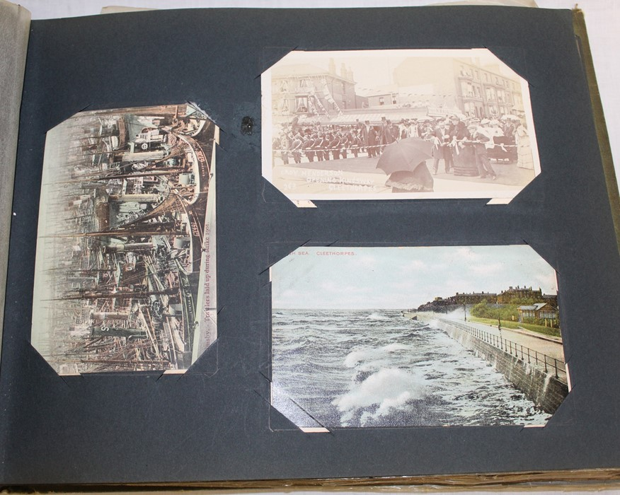 Classic Series Album of postcards mainly Gainsborough, Cleethorpes & Grimsby including Royal Visit - Image 2 of 12