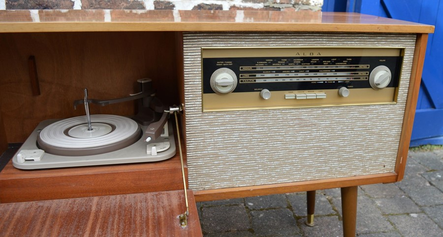 1960's Alba music cabinet *Please note this item is sold as a Collectors Item and has not been - Image 3 of 3