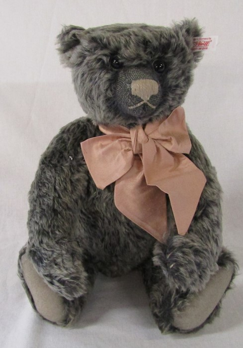 Steiff British Collectable teddy bear 2007 'Old black bear', grey tipped, L 40 cm, limited edition - Image 2 of 2