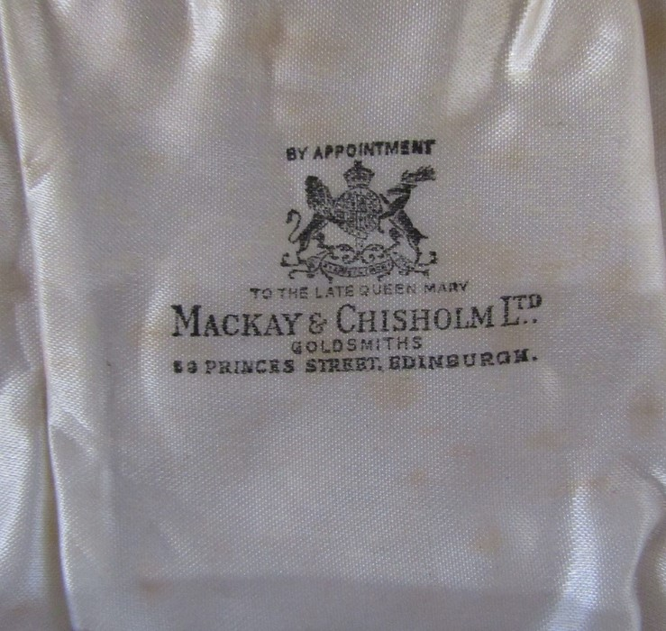 Boxed silver condiment set by Adie Brothers Ltd, Birmingham 1955 retailed by Mackay & Chisholm Ltd - Image 3 of 3