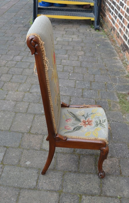 19th century prie-dieu chair - Image 4 of 4