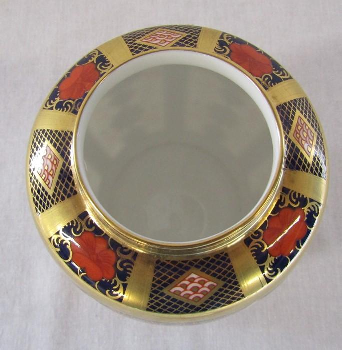 Royal Crown Derby imari pattern 1128 ginger jar (second quality) H 11 cm - Image 4 of 5