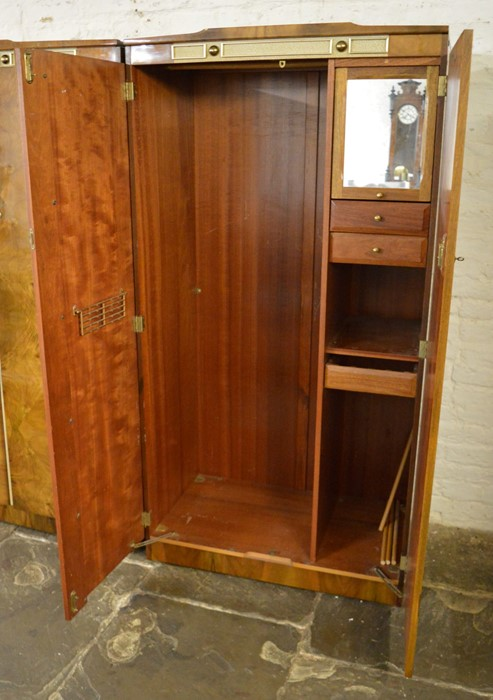 2 mid 20th century Beautility wardrobes one with swivel mirror Ht 178cm W 130cm & 92cm - Image 6 of 6