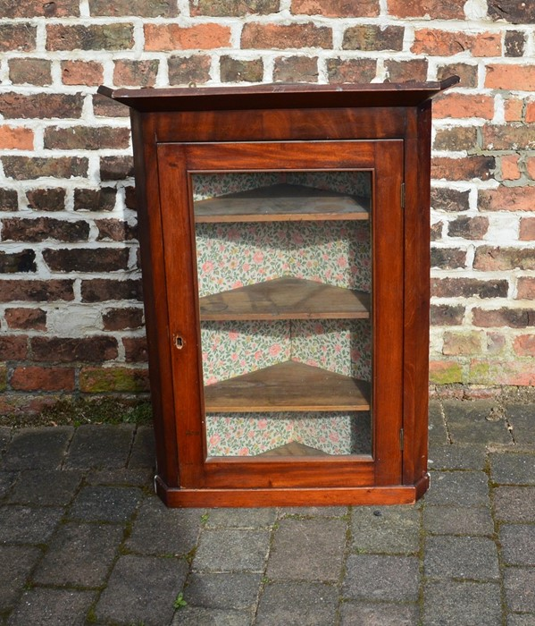 Glazed corner cupboard