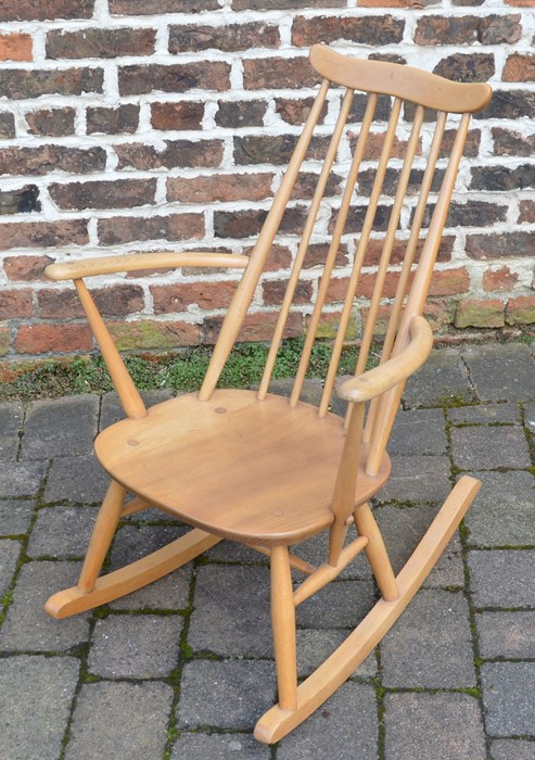 Ercol comb back rocking chair