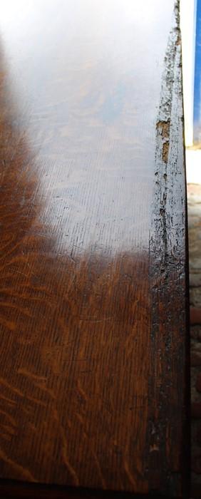Georgian oak mule chest on bracket feet L 123cm D 55cm Ht 82cm - Image 14 of 18