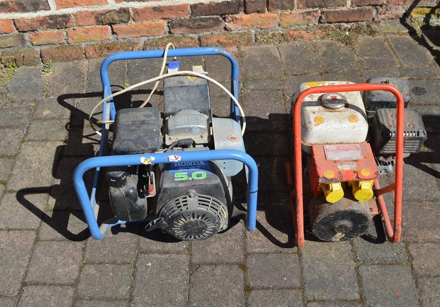 SDMO Ranger 2500 Honda 5.0 petrol generator and a Havahill petrol generator