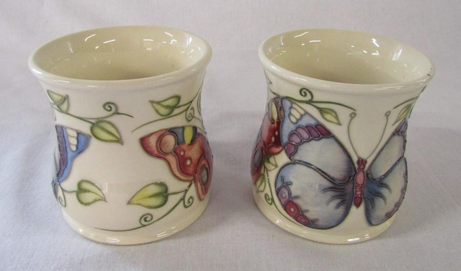 2 Moorcroft 'butterfly' pattern mugs H 8.5 cm - Image 2 of 4