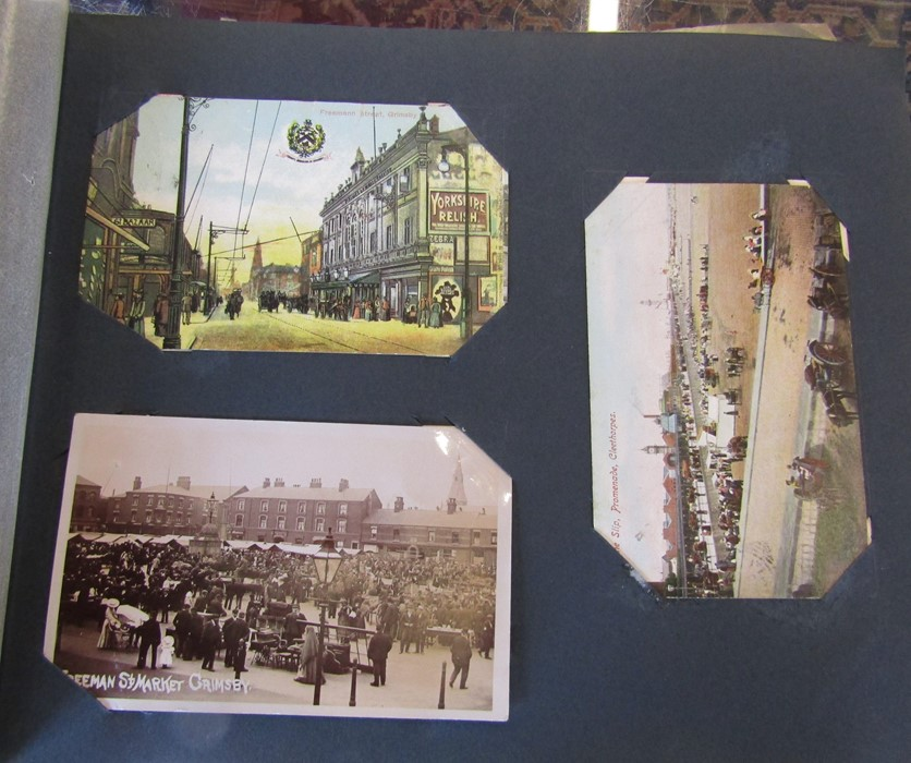Classic Series Album of postcards mainly Gainsborough, Cleethorpes & Grimsby including Royal Visit - Image 6 of 12