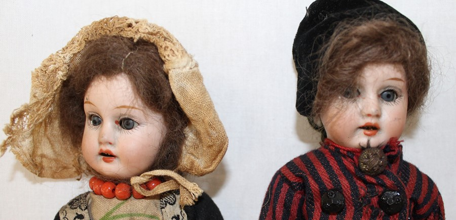 Armand Marseille bisque head doll marked AM-8 with kid leather body, bisque limbs, sleeping eyes, - Image 3 of 9
