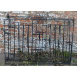 Pair of wrought iron gates Ht 100cm W 270cm