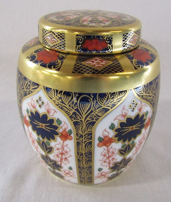 Royal Crown Derby imari pattern 1128 ginger jar (second quality) H 11 cm