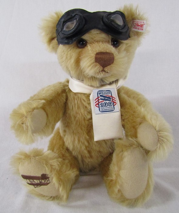Steiff The Wright Brothers 100 years of aviation celebration limited edition bear 1421/1903 L 31 cm