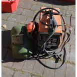 Maypole no gas MIG welder with visor