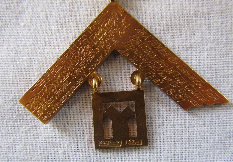 Early 20th century 18ct gold Masonic medal awarded to Frederick Morris Hartung and Carl Hartung, ( - Image 3 of 4