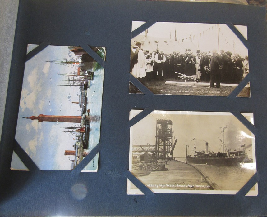 Classic Series Album of postcards mainly Gainsborough, Cleethorpes & Grimsby including Royal Visit - Image 7 of 12