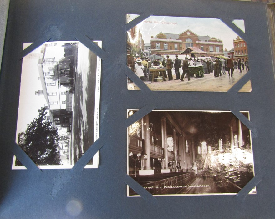 Classic Series Album of postcards mainly Gainsborough, Cleethorpes & Grimsby including Royal Visit - Image 10 of 12