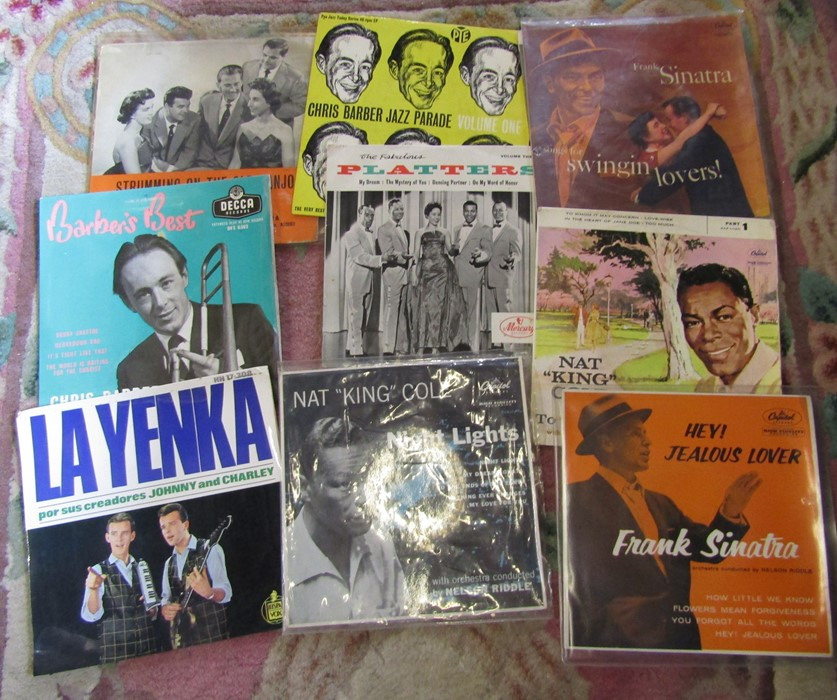"""Box of 7"""" singles inc The Rolling Stones, Nat King Cole, Platters, Frank Sinatra, Cilla Black, The - Image 3 of 5"""