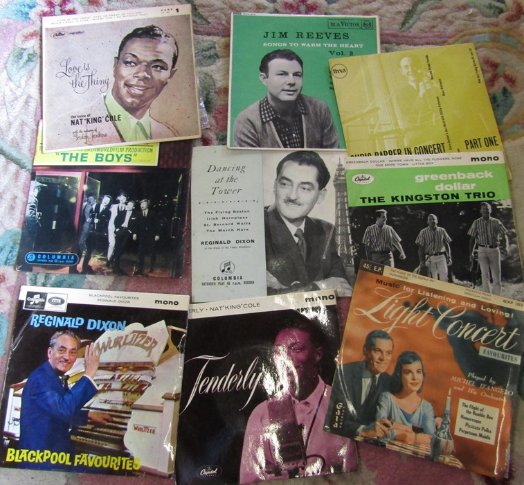 """Box of 7"""" singles inc The Rolling Stones, Nat King Cole, Platters, Frank Sinatra, Cilla Black, The - Image 2 of 5"""