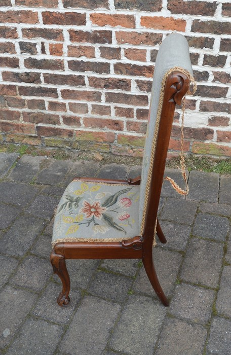 19th century prie-dieu chair - Image 2 of 4