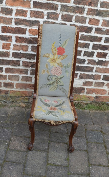 19th century prie-dieu chair