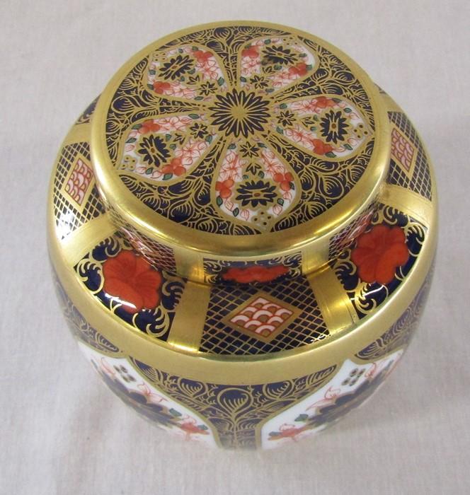Royal Crown Derby imari pattern 1128 ginger jar (second quality) H 11 cm - Image 2 of 5