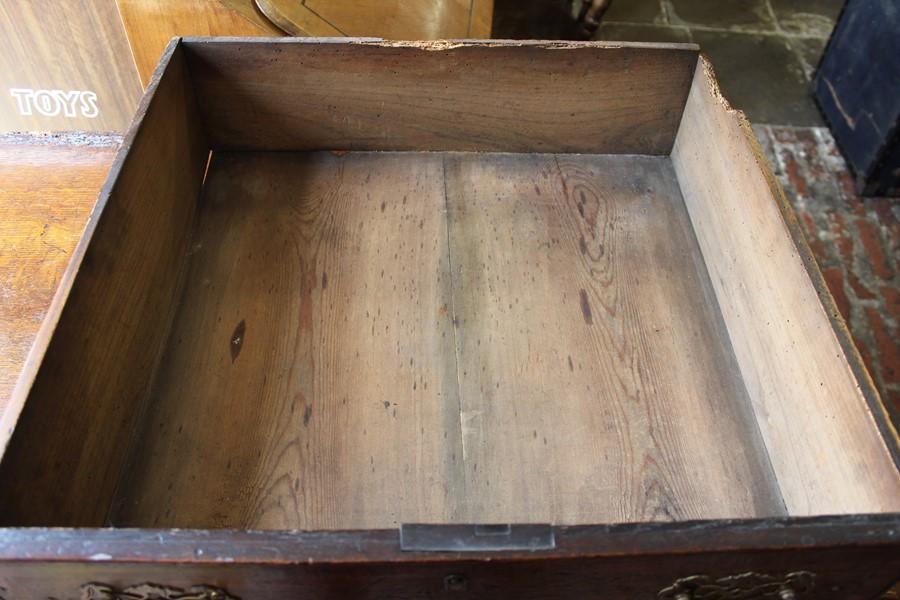Georgian oak mule chest on bracket feet L 123cm D 55cm Ht 82cm - Image 16 of 18