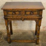 Titchmarsh & Goodwin oak hall table (2020 Retail Price List £1040) Ht 71cm W 61cm D 30cm