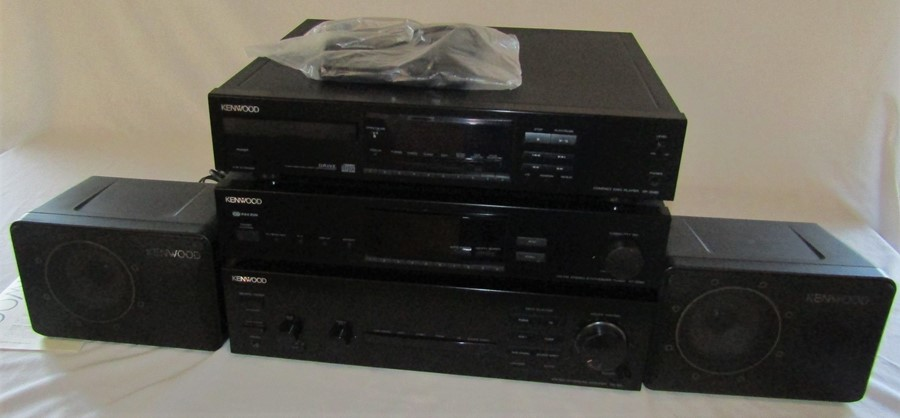 Kenwood stereo stacking system consisting of compact disk play DP-3080, AM-FM stereo synthesizer