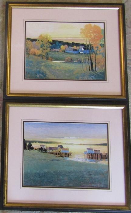 Pair of framed Max Hayslette prints 61 cm x 51 cm (size including frame)
