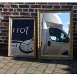 WITHDRAWN - 2 gilt framed mirrors (largest 103 cm x 72 cm)