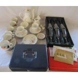 Various ceramics inc Royal Albert Summer Breeze part tea service, Wedgwood, Hankook and boxed set of