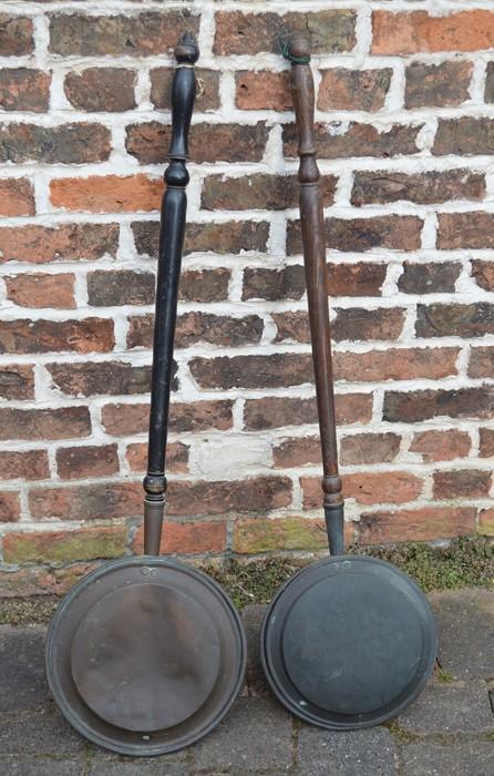 2 copper warming pans