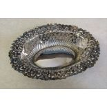 Victorian silver oval bonbon dish L 13.5 cm Chester 1900 weight 1.17 ozt