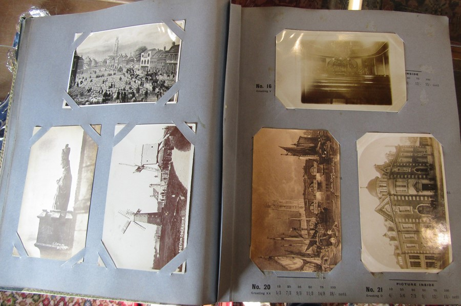 Reliable Series Album of postcards, mainly early Boston & Lincoln - over 200 cards - Image 10 of 14